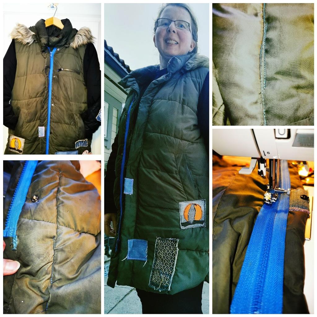 Katrine's well mended coat